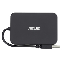 ASUS USB Hub + Ethernet Port Combo 480Mbit/s Nero perno e concentratore