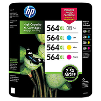 HP 564XL Combo-pack Cyan/Magenta/Yellow/Photo Ciano, Giallo cartuccia d