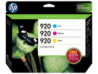 HP 920 Combo Creative Pack Ciano, Giallo cartuccia d