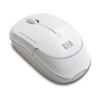 HP White Wireless Laser Mini Mouse RF Wireless Laser Bianco mouse