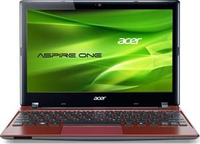 "Acer Aspire One 756 1.1GHz 11.6"" 1366 x 768Pixel Rosso Netbook"