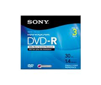 Sony DVD-R Recordable Storage - 3 Discs 2.8GB DVD-R 3pezzo(i)