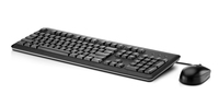 HP USB Keyboard, Mouse w/Mouse Pad USB Nero tastiera