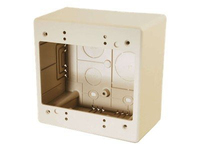 C2G Raceway Dual Gang Junction Box Bianco