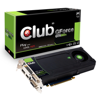 CLUB3D GeForce GTX 660 Ti GeForce GTX 660 Ti 2GB GDDR5