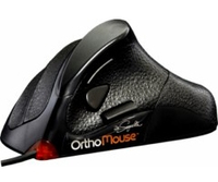 OrthoMouse Saddle USB+PS/2 Ottico 1000DPI Mano destra Nero mouse