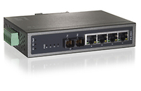 LevelOne 4-Port PoE w/ 1-Port SC Fiber Industrial Fast Ethernet Switch No gestito Supporto Power over Ethernet (PoE) Nero