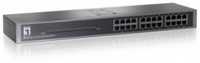 LevelOne 24-Port Fast Ethernet Switch No gestito Argento