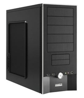 Gigabyte iSolo 210, Black Midi-Tower Nero vane portacomputer