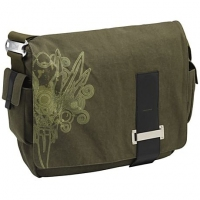 "Case Logic 15.4"" Canvas Messenger Bag 15.4"" Borsa da corriere Verde"