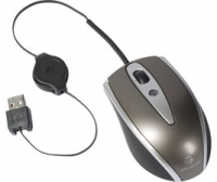 Targus Retractable optical mouse. USB Ottico 800DPI Nero mouse