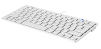 Backshop Compact USB QWERTY Inglese US Bianco tastiera