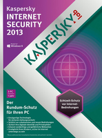 Kaspersky Lab Internet Security 2013, DVD, 3U, 1Y 3utente(i) 1anno/i DUT