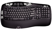 Logitech Wireless Keyboard K350 RF Wireless AZERTY Francese Nero tastiera