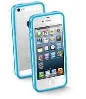 Cellularline iPhone bumper Cover Blu, Bianco