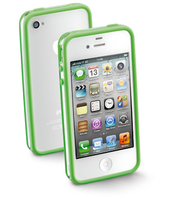 Cellularline iPhone bumper Cover Verde, Bianco