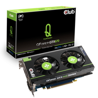 CLUB3D CGNX-X676F GeForce GTX 670 2GB GDDR5 scheda video