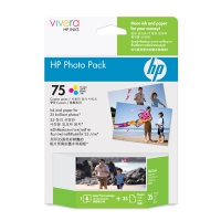 HP 75 Photo Value Pack-35 sht/10 x 15 cm cartuccia d