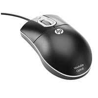 HP 619580-001 USB+PS/2 Ottico Nero mouse