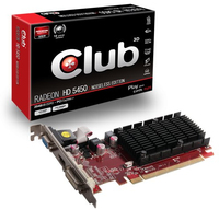 CLUB3D CGAX-5456 Radeon HD5450 2GB GDDR3 scheda video