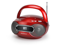 AudioSonic CD-1580 Digitale 6W Rosso radio CD
