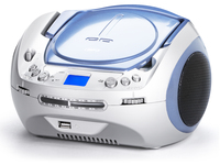 AudioSonic CD-1585 Digitale 6W Blu, Bianco radio CD