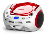 AudioSonic CD-1584 Digitale 6W Rosso, Bianco radio CD