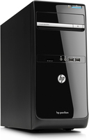 HP Pavilion p6-2010be 3GHz i5-2320 Torre media Nero, Argento PC