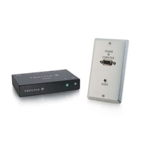 C2G TruLink VGA+3.5mm Audio over UTP Wall Plate Transmitter/ Box Receiver Kit switch per keyboard-video-mouse (kvm)