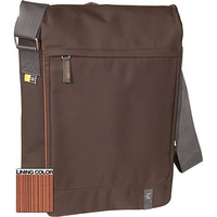 "Case Logic XN Vertical Messenger Bag Brown 15.4"" Borsa da corriere Marrone"