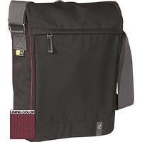 "Case Logic XN Vertical Messenger Bag Black 15.4"" Borsa da corriere Nero"