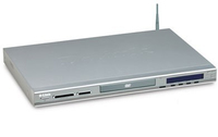 D-Link 54Mbps Wireless Media Player with DVD Player & Card Reader Argento lettore multimediale