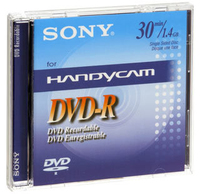 Sony DVD RECORDABLE 1.4GB 8CM 30MIN 1.4GB