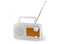 AudioSonic RD-1546 Portatile Marrone, Bianco radio