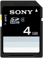 Sony 4GB SDHC+Car grip Pad 4GB SDHC Classe 4 memoria flash