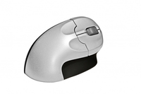 BakkerElkhuizen Grip Mouse Wireless RF Wireless Ottico 1600DPI Nero, Argento mouse