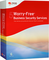 Trend Micro Worry-Free Business Security Services 5, RNW, 2-5u, 13m, FRE