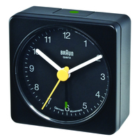 Braun BNC 002 Quartz table clock Quadrato Nero