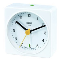 Braun BNC 002 Quartz table clock Quadrato Bianco
