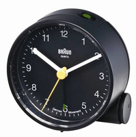 Braun BNC 001 Quartz table clock Rotondo Nero