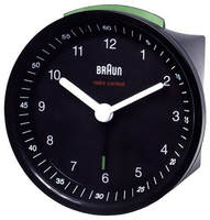 Braun BNC 007 Quartz table clock Rotondo Nero
