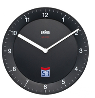 Braun BNC 006 Quartz wall clock Cerchio Nero