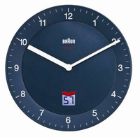 Braun BNC 006 Quartz wall clock Cerchio Blu