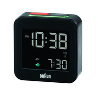 Braun BNC 008 Digital table clock Quadrato Nero