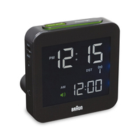 Braun BNC 009 Digital table clock Quadrato Nero
