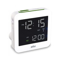 Braun BNC 009 Digital table clock Quadrato Bianco