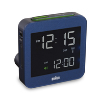 Braun BNC 009 Digital table clock Quadrato Blu
