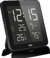 Braun BNC 014 Digital wall clock Quadrato Nero