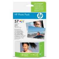 HP 57 Series Photo Pack-100 sht/10 x 15 cm plus tab cartuccia d