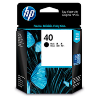 HP 40 Black Nero cartuccia d